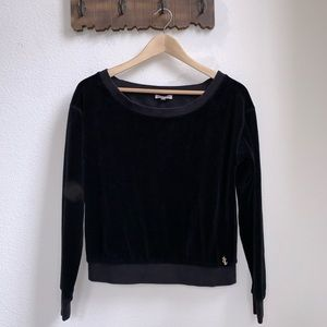 Juicy Couture | Black Velour Sweater